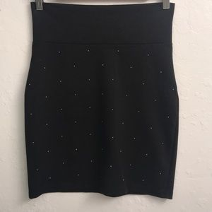 Trouve Black studded body con skirt